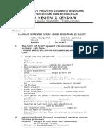 PEMERINTAH  PROVENSI SULAWESI TENGGARA DINAS PENDIDIKAN DAN KEBUDAYAAN                                 SMA NEGERI 1 KENDARI JL.docx