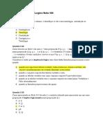 Apol 03 Raciocínio Logico Nota 100