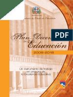 Plan Decenal Educación RD