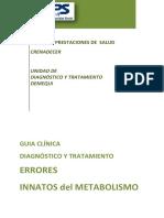 Guia Clinica Errores Innatos Del Metabolismo