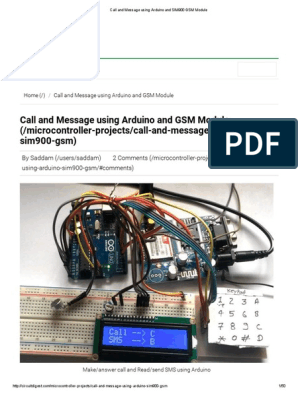 Call and Message Using Arduino and SIM900 GSM Module | Short Message