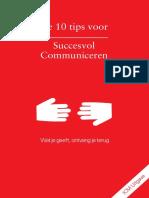 De 10 Tips Voor Succesvol Communiceren