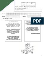 Prueba Comprension Poema La Vaca Estudiosa Con Adaptacion