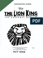 Lion King - 24 Piece Full Score