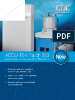ACCU-TEK 250 Touch Automatic Compression Machine Brochure