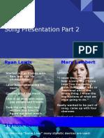 song presentation part 2