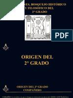 Origen Bosquejo Historico y Filosofico del 2 Grado de Masoneria