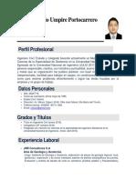 CV Jorge Antonio Umpire Portocarrero