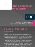 Interesting places in my country