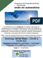 Flyer Autoestima Mayo2017