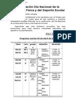 Programa Dia Educacion Fisica