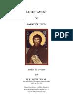 Testament de St Ephrem
