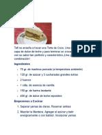Recopilacion Torta de Coco
