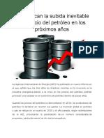 Subida Inevitable Del Petroleo