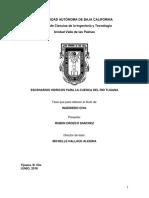 ESCENARIOS HIDRICOS PARA LA CUENCA DEL RIO TIJUANA