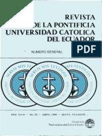 REVISTA DE LA PONTIFICIA UNIVERSIDAD CATÓLICA DEL ECUADOR