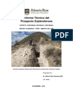 Prospecto Minero Explendorosa (Informe Tecnico)