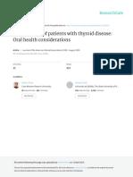 Manejo odontologico de pacientes con enfermedades tiroideas