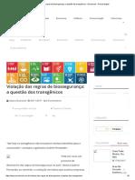 Violação Das Regras de Biossegurança_ a Questão Dos Transgênicos - Envolverde - Revista Digital