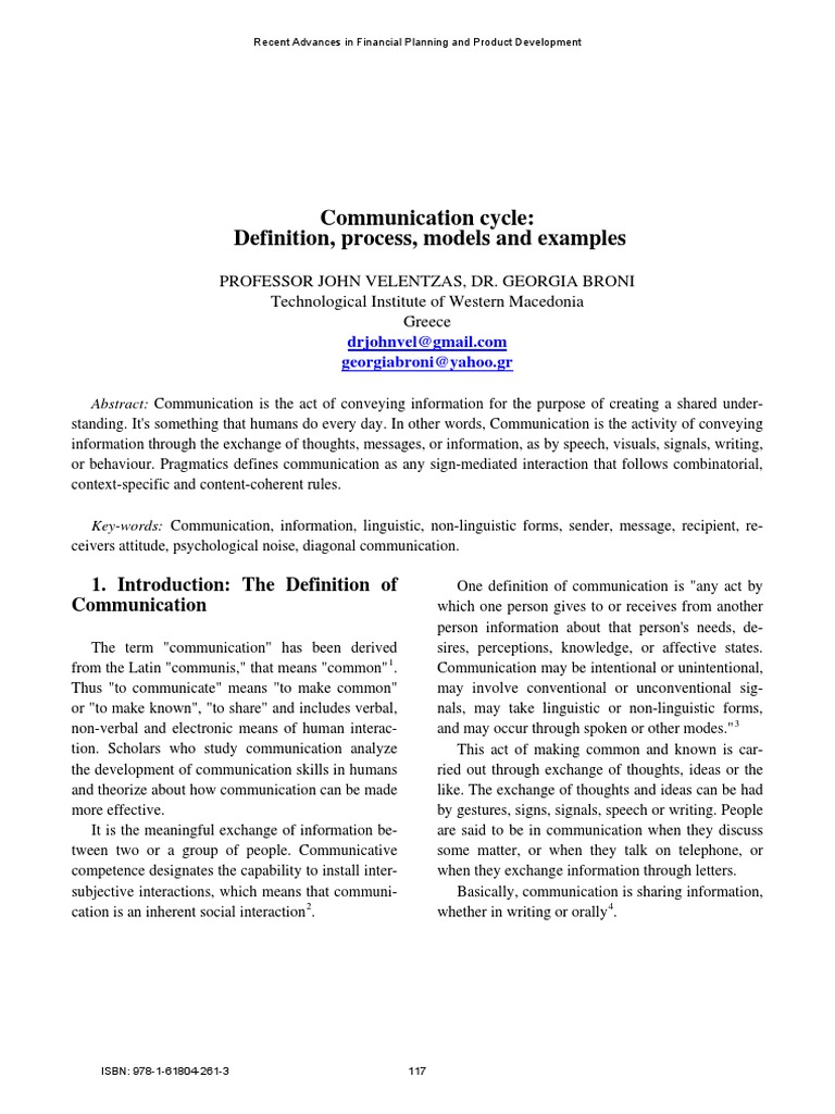 examples of communication noise