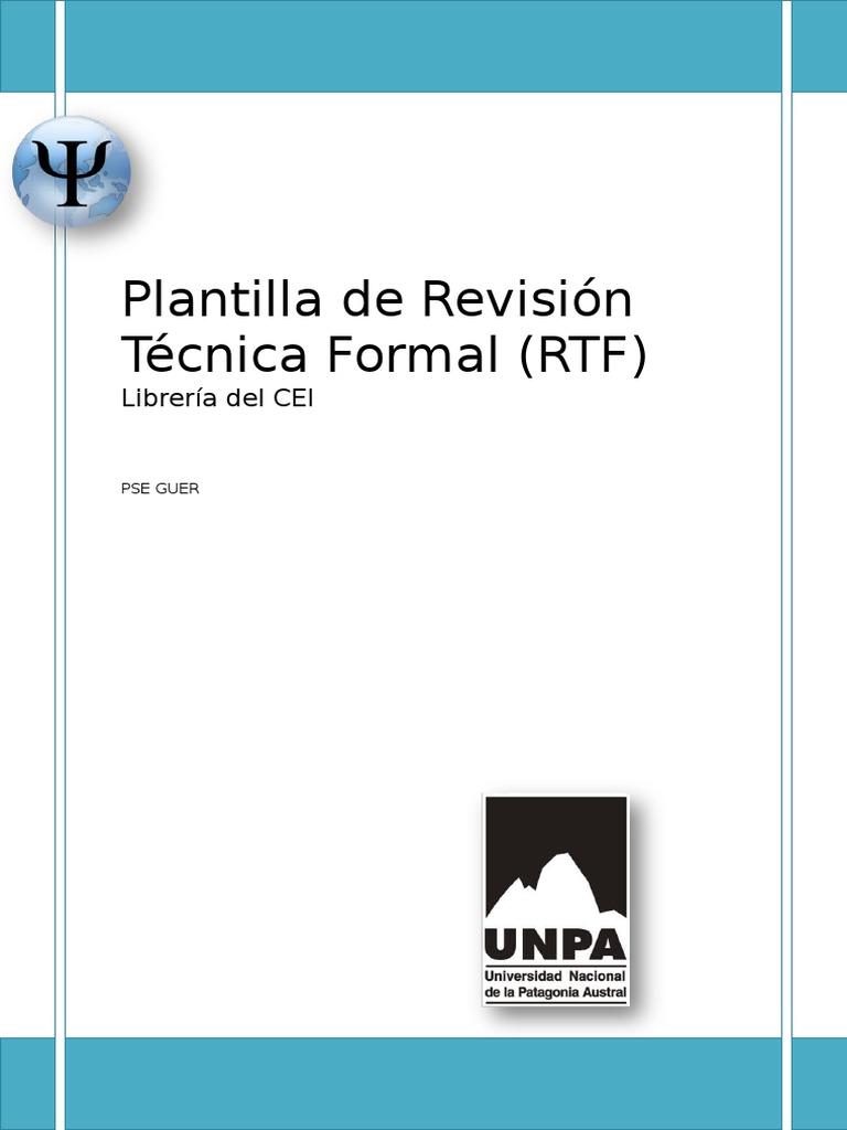 Ejemplo de Informe de Revision Tecnica Formal