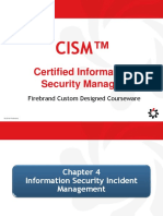 Cism Domain 4 Information Security Incident Management