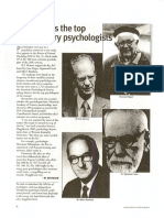 Top 20 psychologists