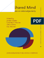 Jordan Zlatev, Timothy P. Racine, Chris Sinha, Esa Itkonen the Shared Mind Perspectives on Intersubjectivity Converging Evidence in Language and Communication Research Celcr