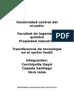 Transferencia tecnológica en el sector textil