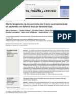 Efecto Terapeurico de Los Ejercicios de TVSO en Pte Con Disfonia Mt Tipo 1