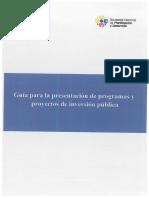 Guía de Programas y Proyectos