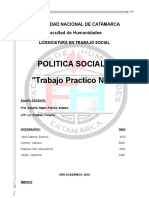 Estado de Bienestar. TP n2 de Politica Social II