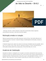 Características Da Vida No Deserto - Dt 8