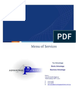 Advantage Partners Accountants Sydney 9541195 - Menu of Services