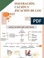 Admistración, Aplicación y Calificación de Los Test Exposición