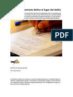 FALLO CSJN Dcho_Penal El Lugar Del Contrato Define El Lugar Del Delito