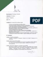 Programa Psicologia 5to Regulares 2015
