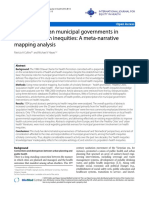 The Role of Urban Municipal Governments in Reducing Health Inequities