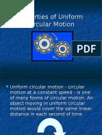 Properties of Uniform Circular Motion