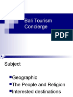 Bali on Tourism Concierge