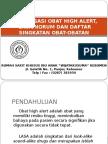 Sosialisasi Obat High Alert Lasa Singkatan