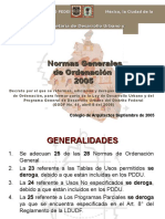 Normas de Ordenación Programa Mexico