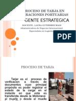 Proceso de Tarja en Operaciones Portuarias