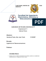 Informe Numero 1 Elctronicos 2 Previo
