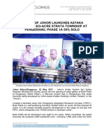 Sultan of Johor Launches SGX-Listed Astaka Holdings' 363-acre Strata Township at Pengerang; Phase 1A 50% Sold