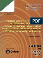 Participación de La Mujer en Actividades de Maquila y Subcontratación en La Ciudad de El Alto Estudios de Caso en Textiles Artesania y Joyeria Eliz (1)