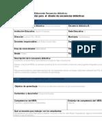 Formato Estándar Para El Diseño de Secuencias Didácticas