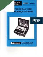 BK-Precision Dynascan 470 CRT Tester Rejuvenator 1986 SM