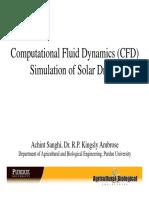 Computational Fluid Dynamics Simulation of Solar Dryers a Sanghi