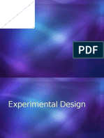 Experimental Design Reporting